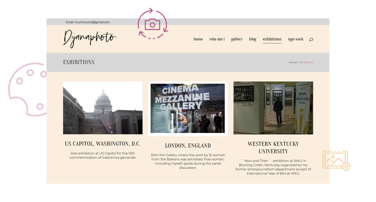 kreator izrada web stranice dijanaphoto