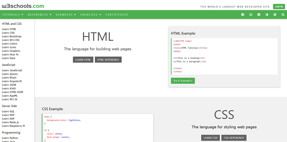 kreator najbolje web stranice za učenje programiranja u 2021. godini W3Schools