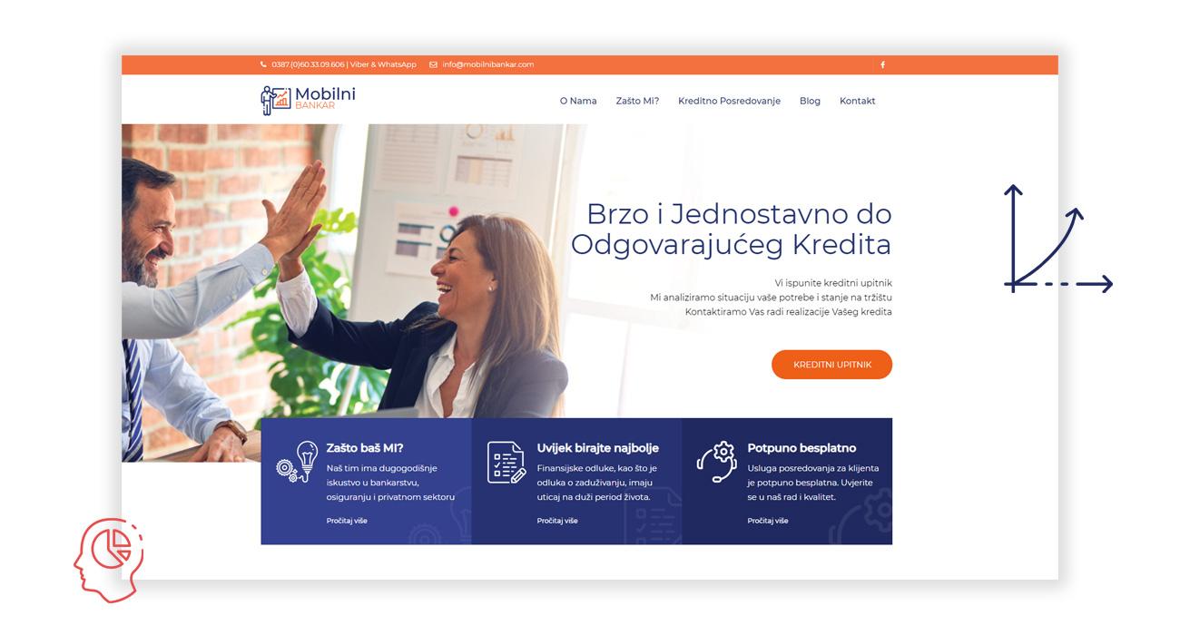 kreator izrada web stranice mobilni bankar