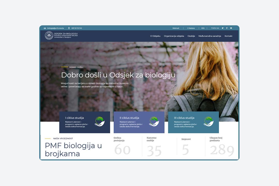 prirodno matematički fakultet - odsjek za biologiju