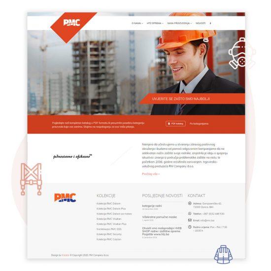 kreator referenca izrada web stranice za RM Company d.o.o.