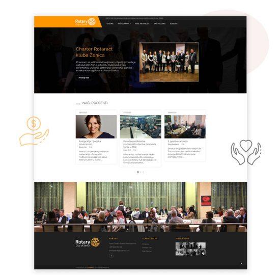 kreator - izrada web stranice za Rotary Club Zenica