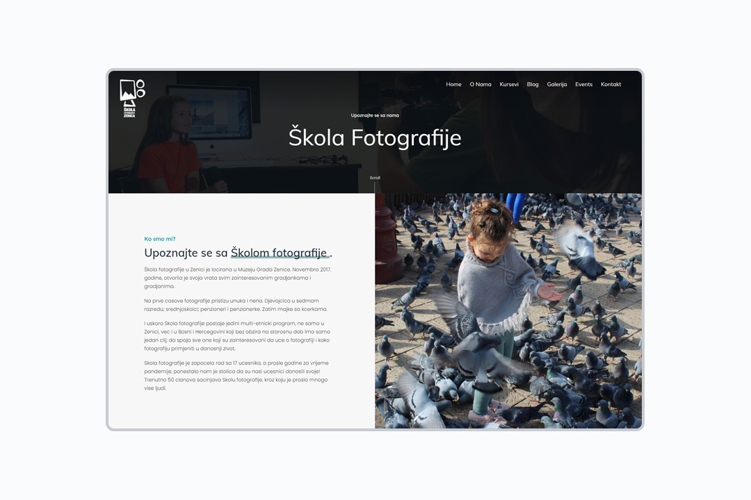 Škola fotografije Referenca Kreator Zenica